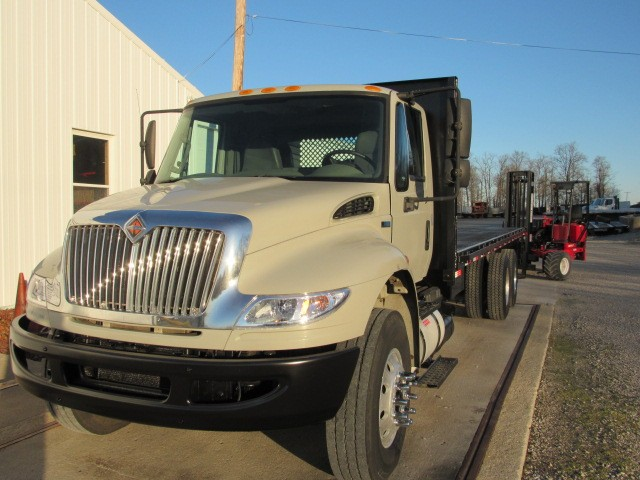 Used, 2014, International, DuraStar 4400, Flatbed Trucks
