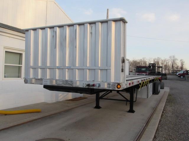 Used, 2008, Utility, 45' X 102 Aluminum/Steel Combo Flatbed Princeton Piggyback Forklift/Moffett Trailer, Flatbed Trailers