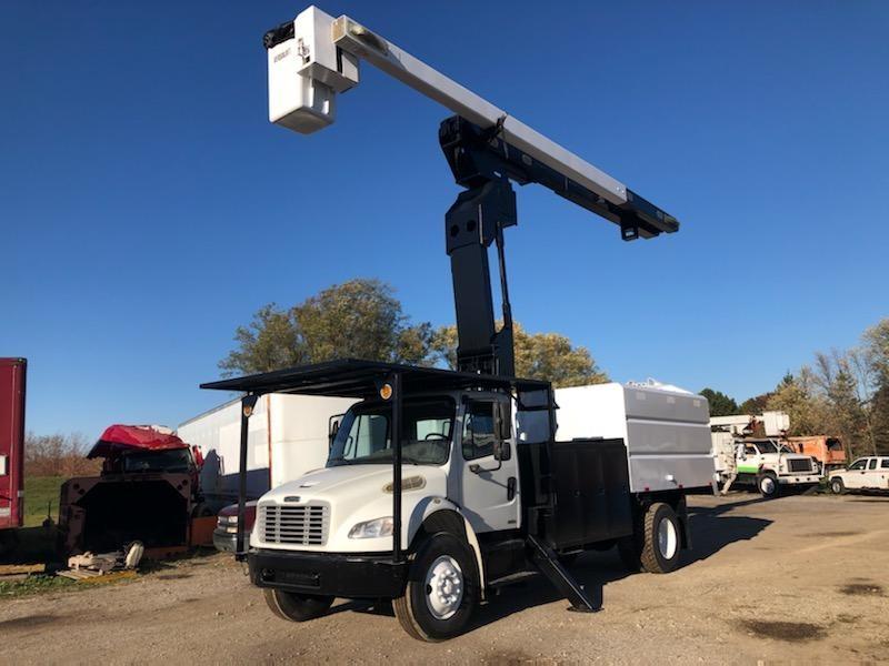 Used, 2011, Freightliner, M2 Elevator Foresty Bucket Truck, Bucket / Boom Trucks