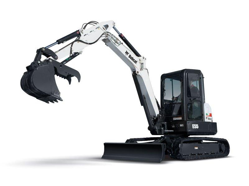2011, Bobcat, E55, Excavators
