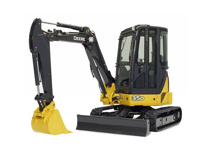Used, 2013, John Deere Construction, 35D, Excavators