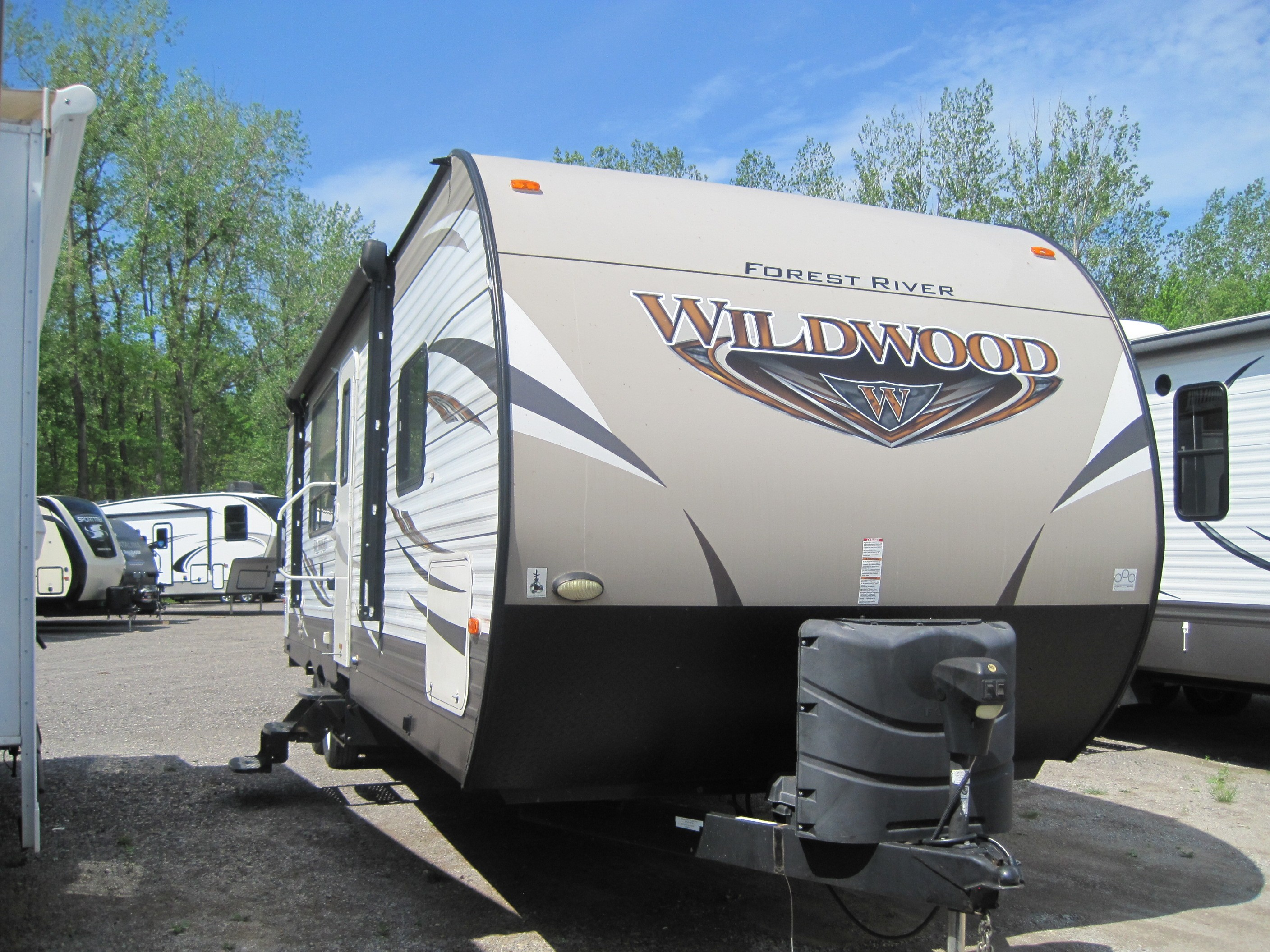 Used, 2016, Forest River, Wildwood 27RKSS, Travel Trailers