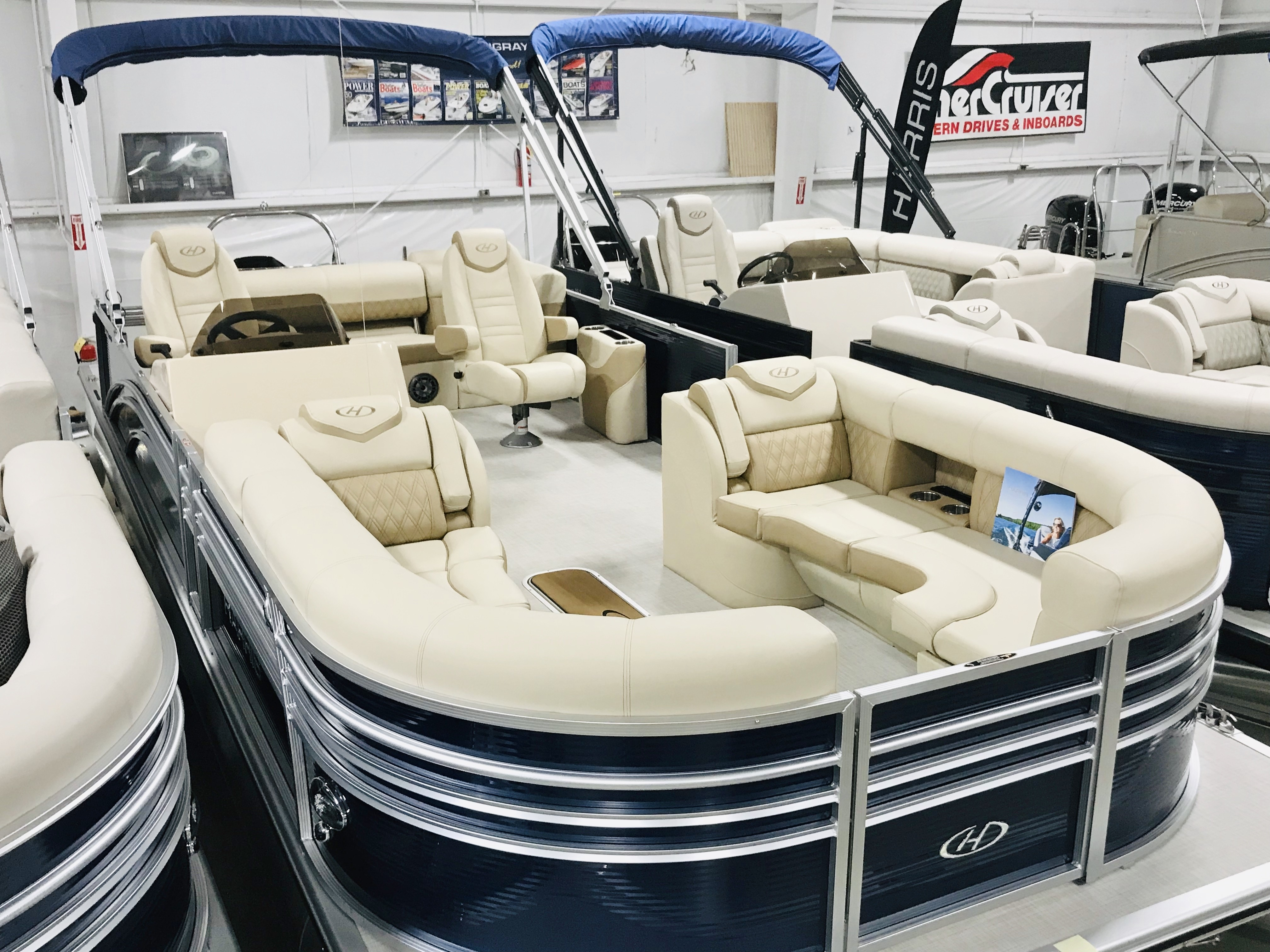 New, 2020, Harris Flotebote, SUNLINER 250 SLDH 200 Hp w/Trailer, Boats