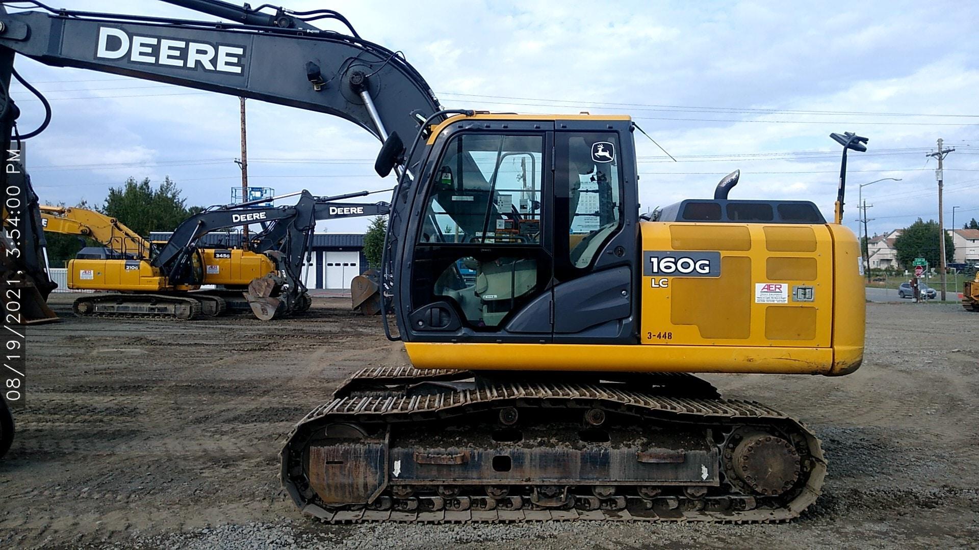 Used, 2014, John Deere Construction, 160G LC, Excavators