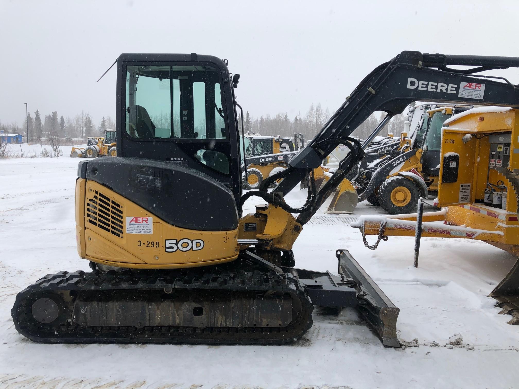 Used, 2010, John Deere Construction, 50D, Excavators