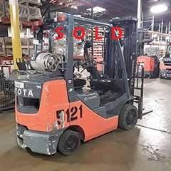 Used, 2016, Toyota Industrial Equipment, 8FGCU32, Forklifts / Lift Trucks