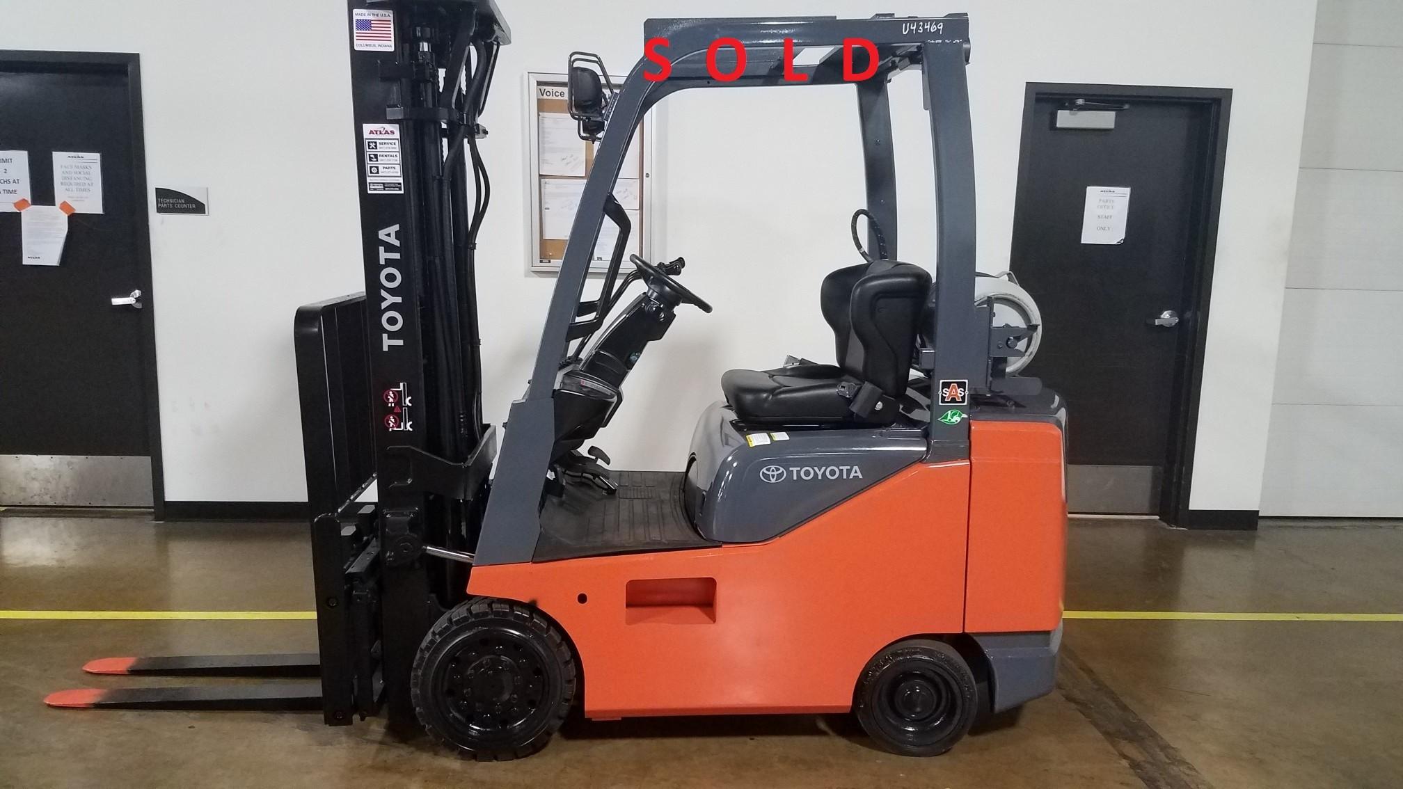 Used, 2017, Toyota Industrial Equipment, 8FGCSU20, Forklifts / Lift Trucks