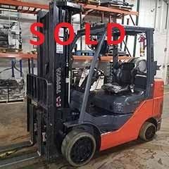 Used, 2016, Toyota Industrial Equipment, 8FGU18, Forklifts / Lift Trucks