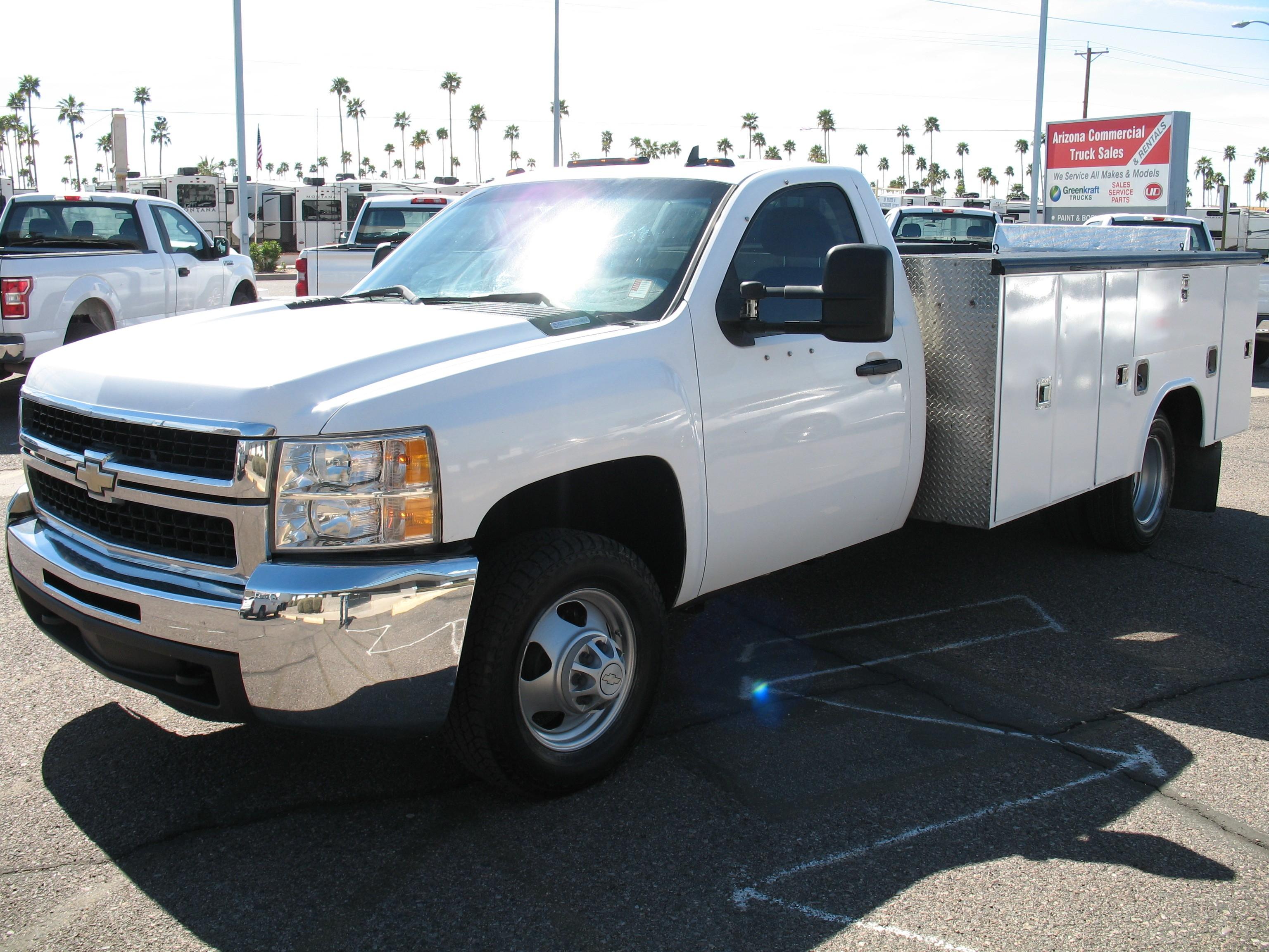 Used, 2008, Chevrolet, Silverado 3500, Service / Utility Trucks