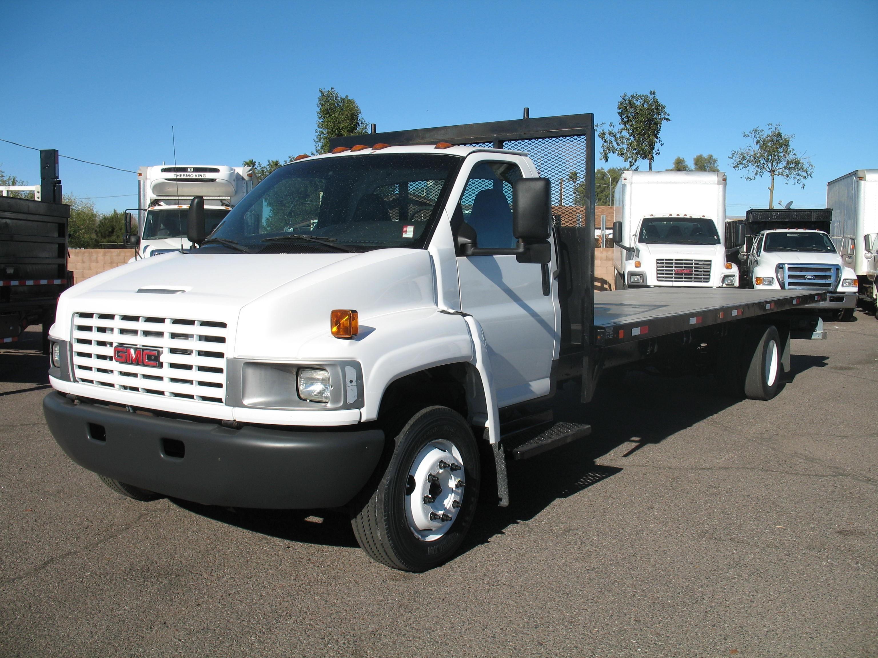 Used, 2005, GMC, C-5500 Topkick, Flatbed Trucks