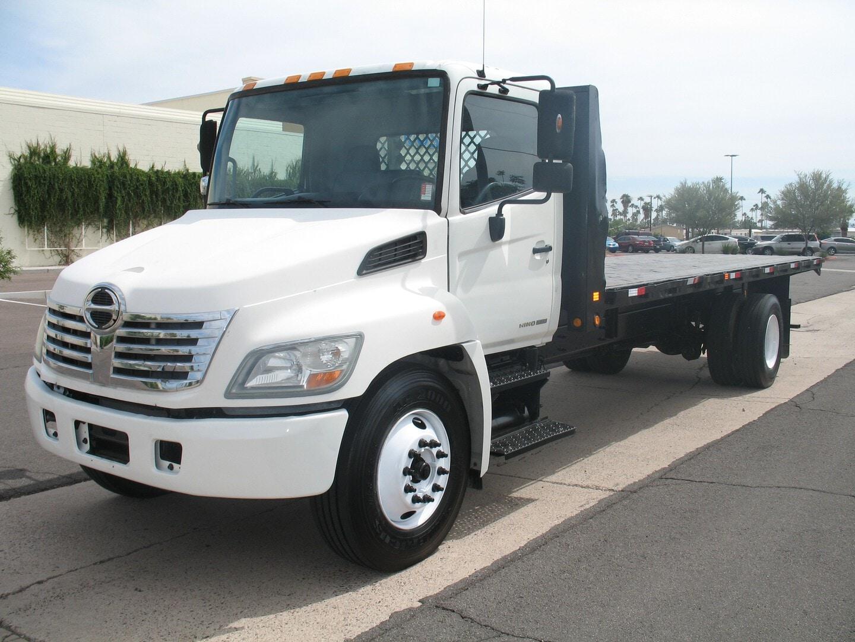 Used, 2008, Hino, 338, Flatbed Trucks