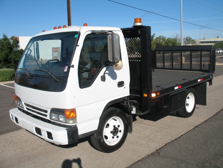 Used, 2005, Isuzu, NQR Diesel, Flatbed Trucks