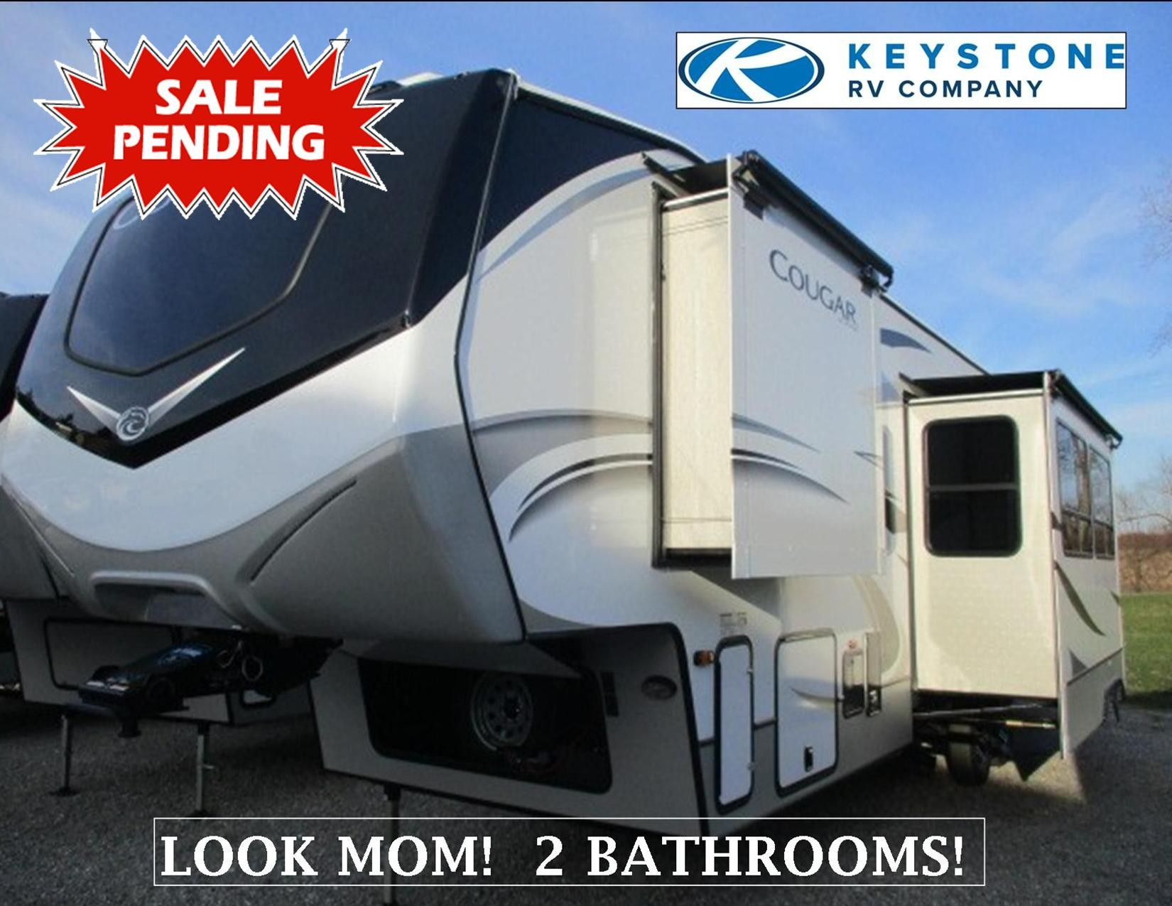 New, 2021, Keystone, Cougar (East) 364BHL, Fifth Wheels