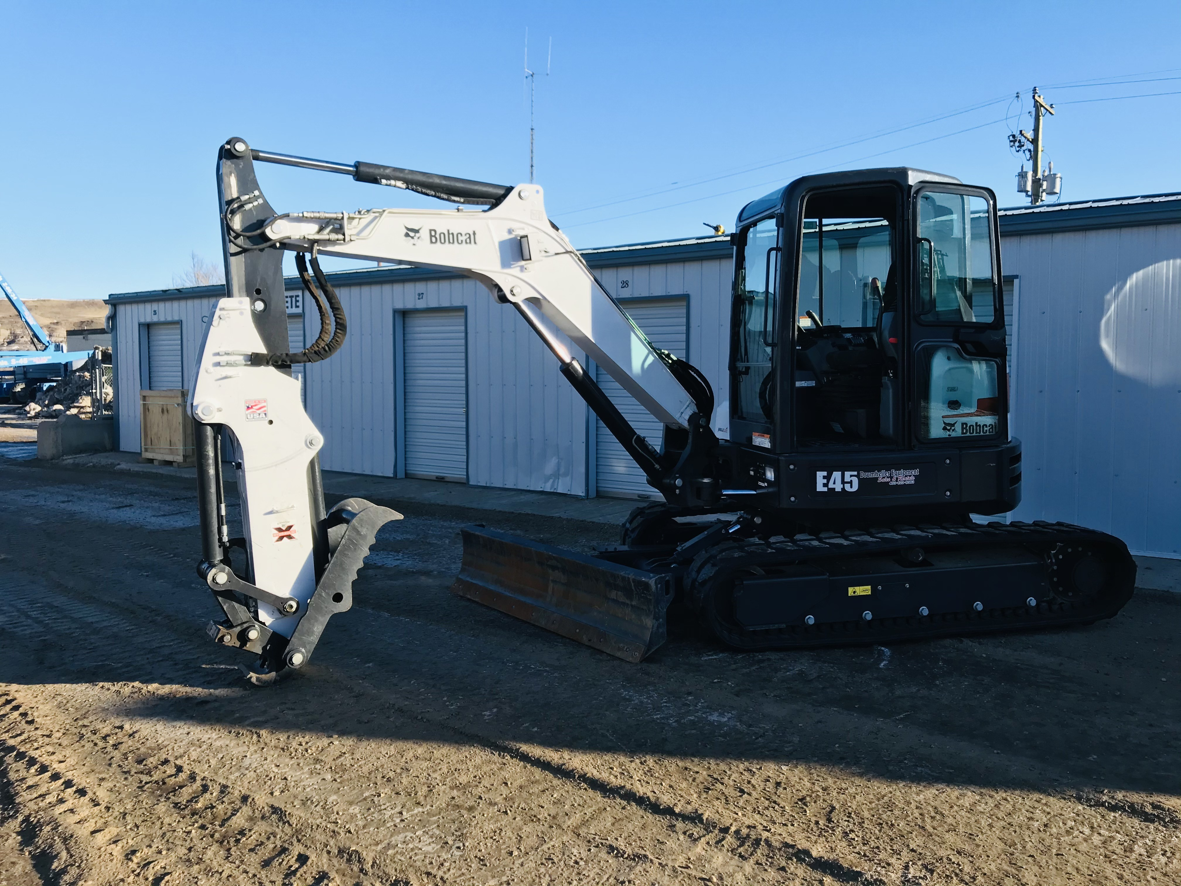 Used, 2019, Bobcat, E45 Extendable Arm, Excavators