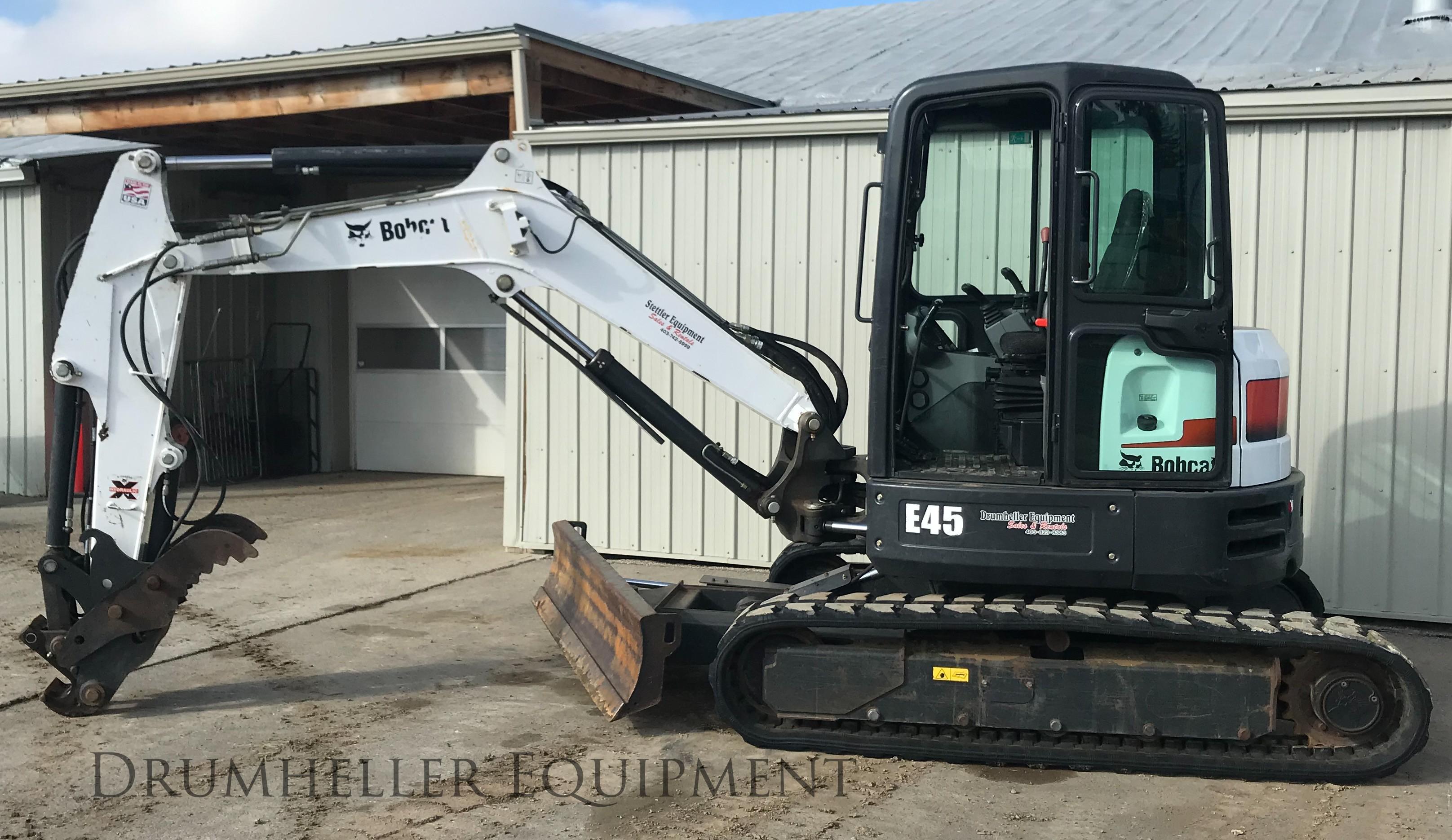 Used, 2016, Bobcat, E45 T4 Long Arm, Excavators