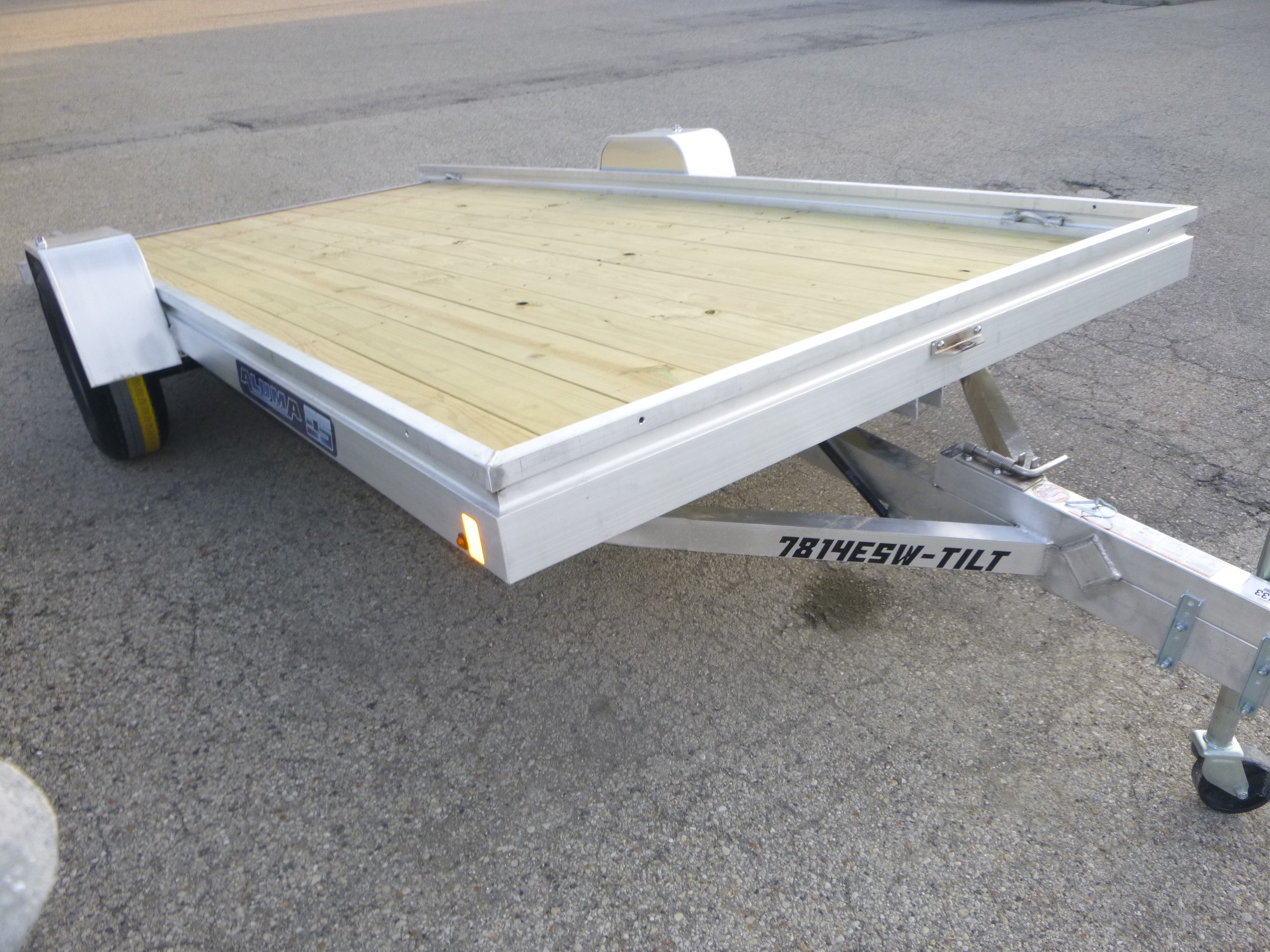 New, 2021, Aluma, 7814-ESW-Tilt, Utility/Light-Duty Trailers