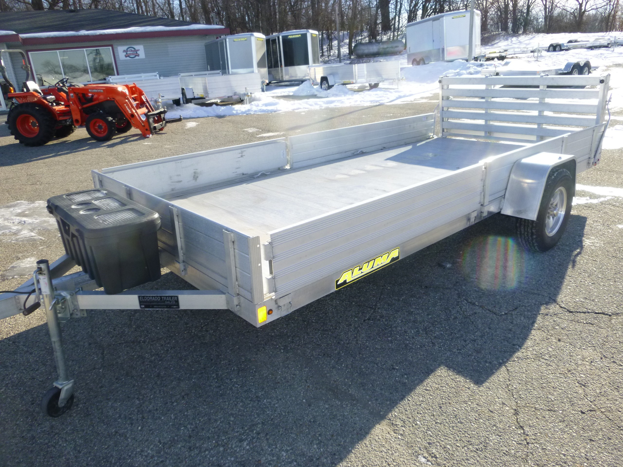 Used, 2020, Aluma, 8114 BT, ATV/UTV Trailers