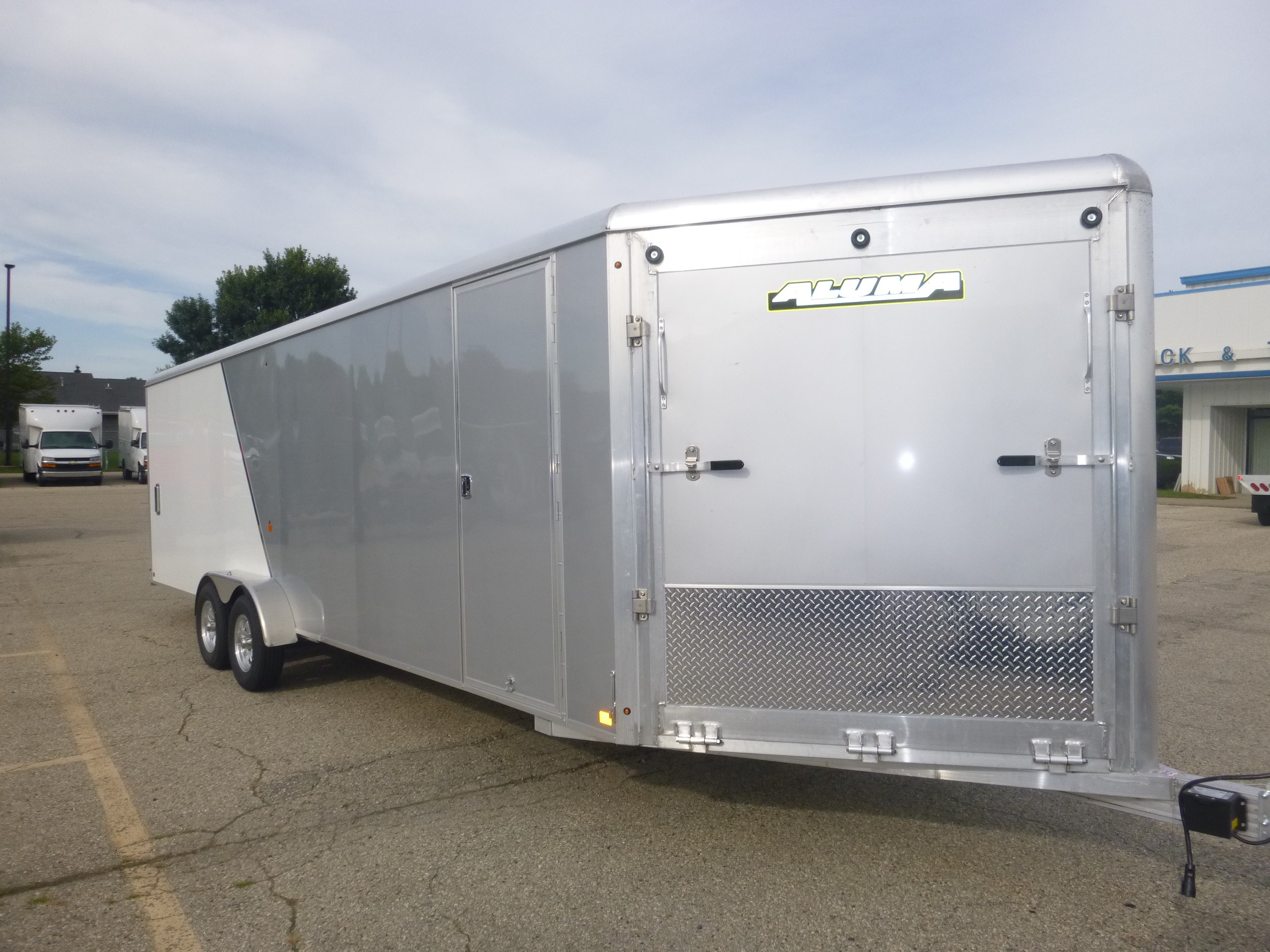 New, 2020, Aluma, AE 7X24 Snowmobile Trailer, Trailers