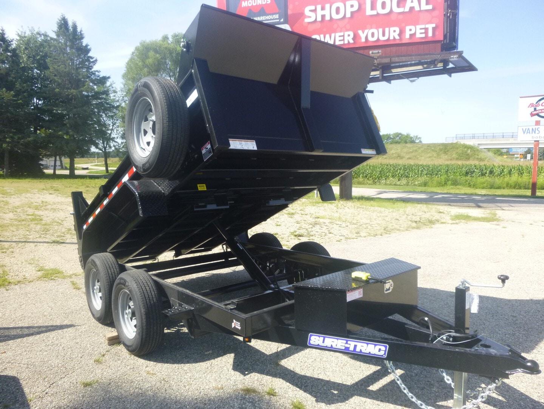 New, 2022, Sure-Trac, ST7210 Low Profile Dump trailer, Dump Trailers