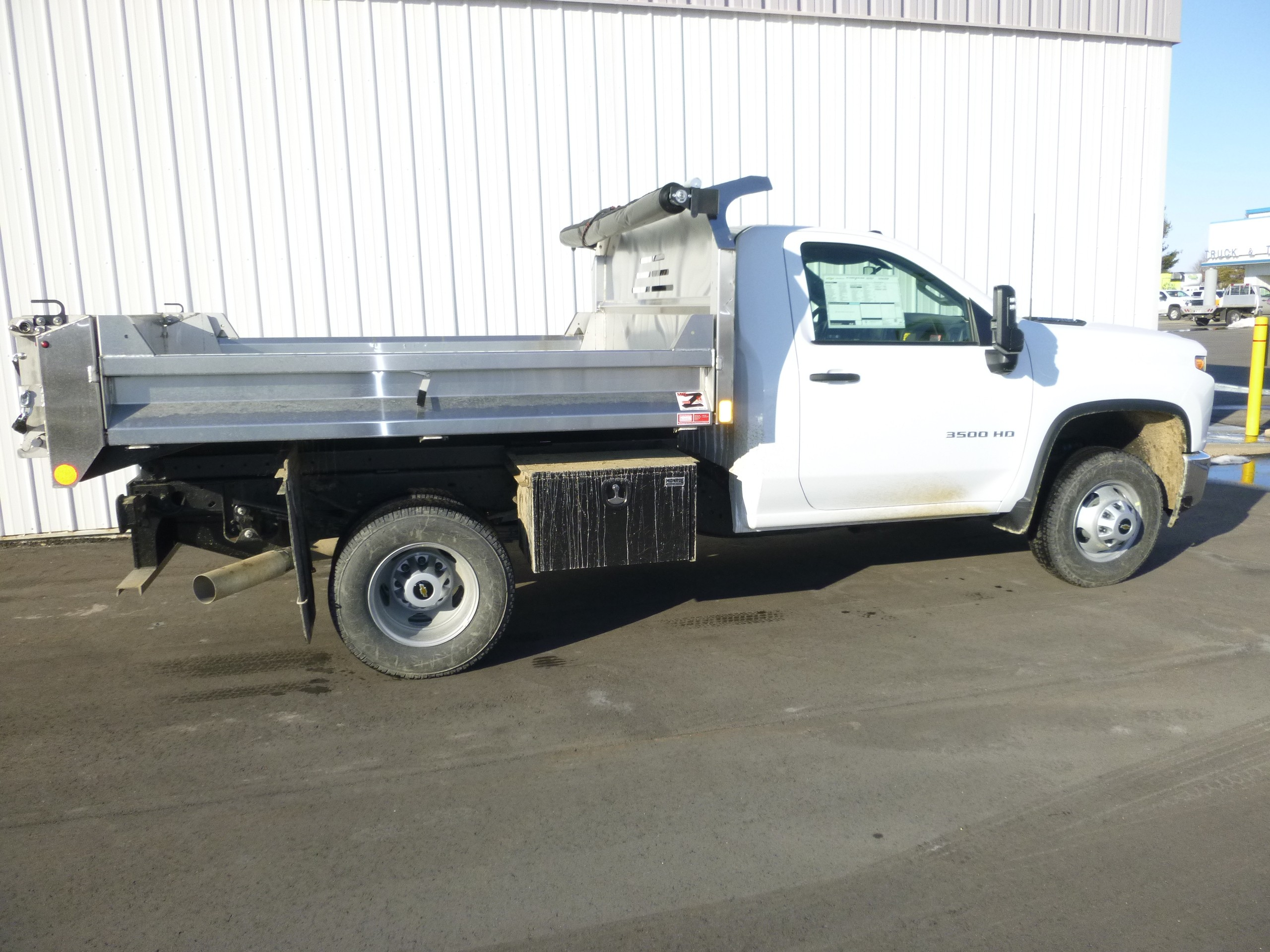 New, 2021, Chevrolet, Chevy 3500 HD 4X4 9' Dump, Dump Trucks