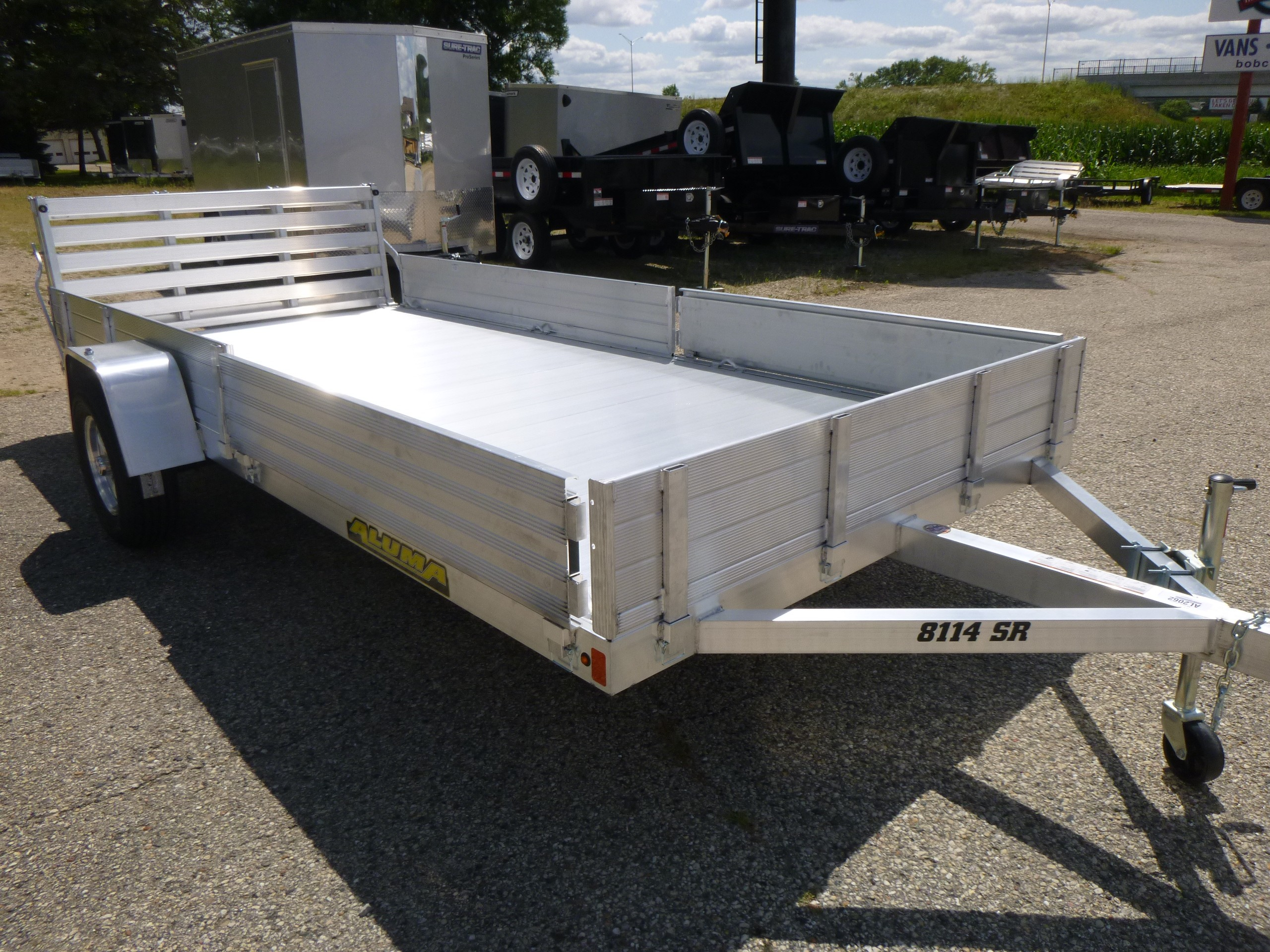 New, 2020, Aluma, 8114SR, Trailers