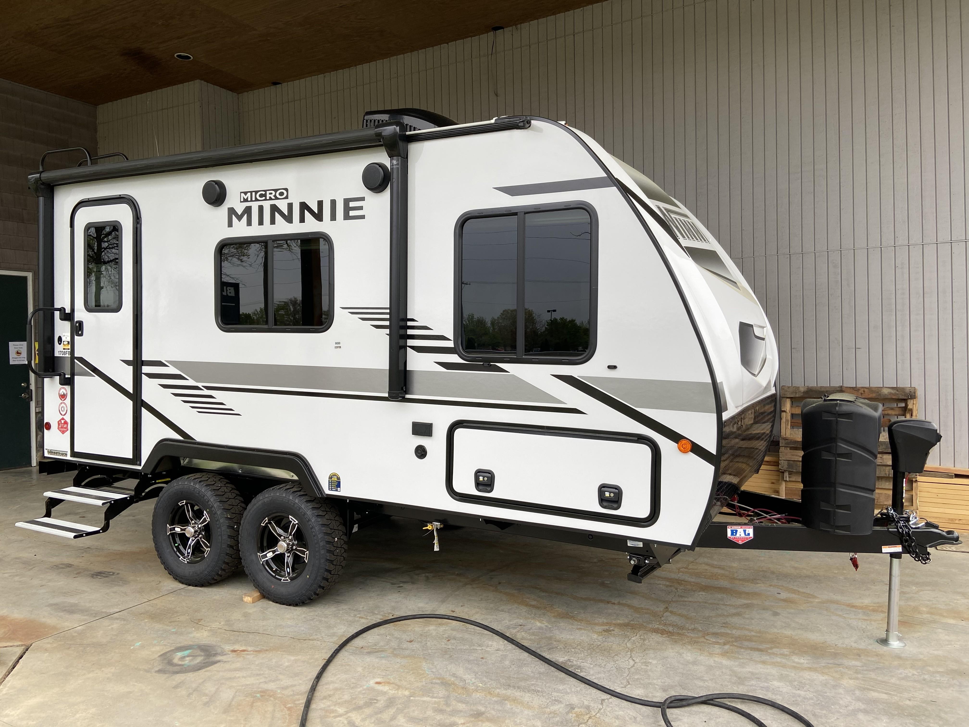 New, 2021, Winnebago, Micro Minnie 1708FB, Travel Trailers