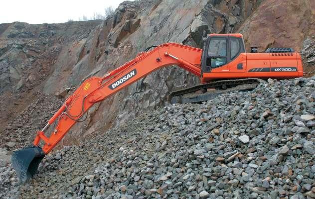 Used, 2014, Doosan, DX300LC-3, Excavators