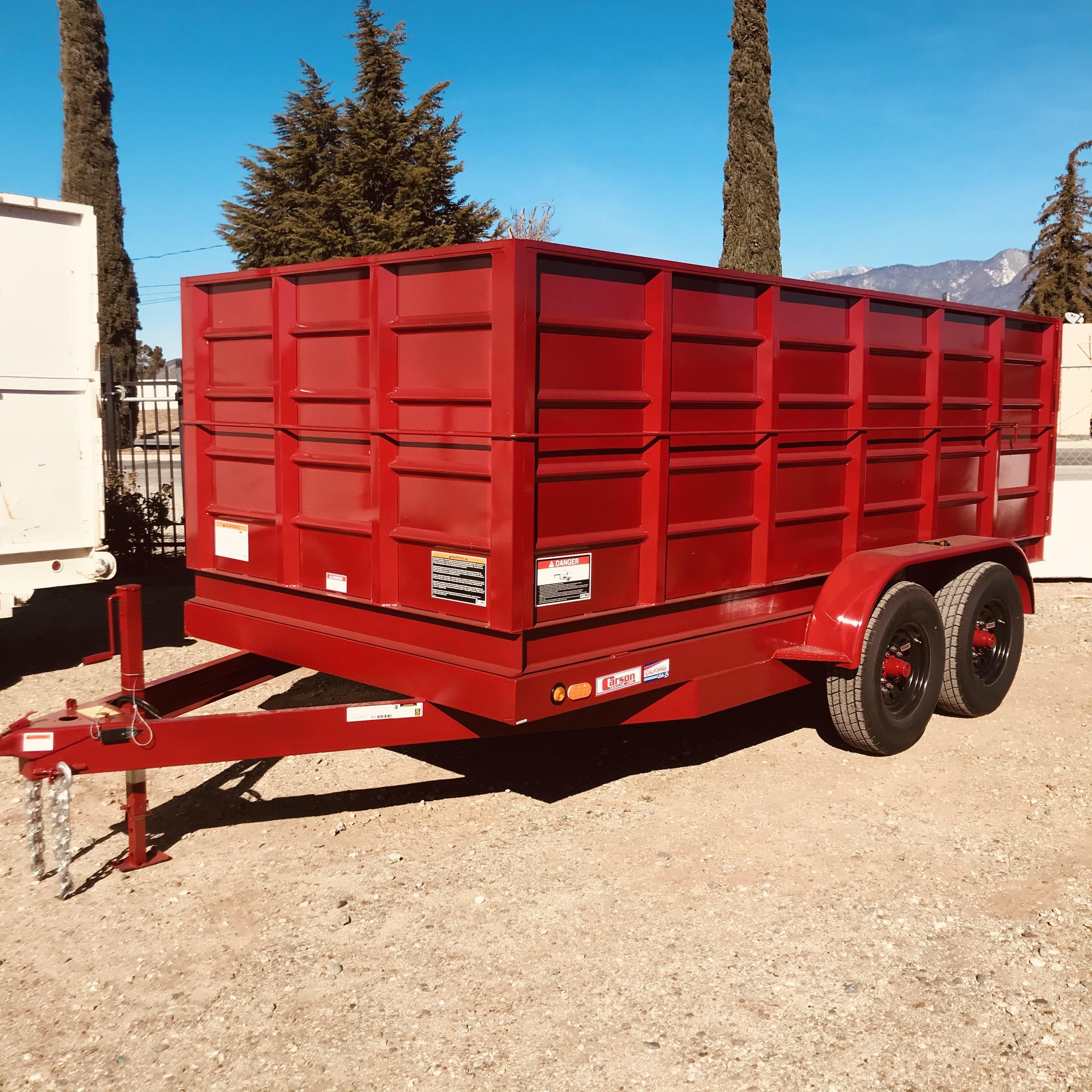 New, 2021, Carson Trailer, 7X14' Tandem Axle Dump Trailer, 10,000lb GVWR in Beaumont, Ca, Dump Trailers