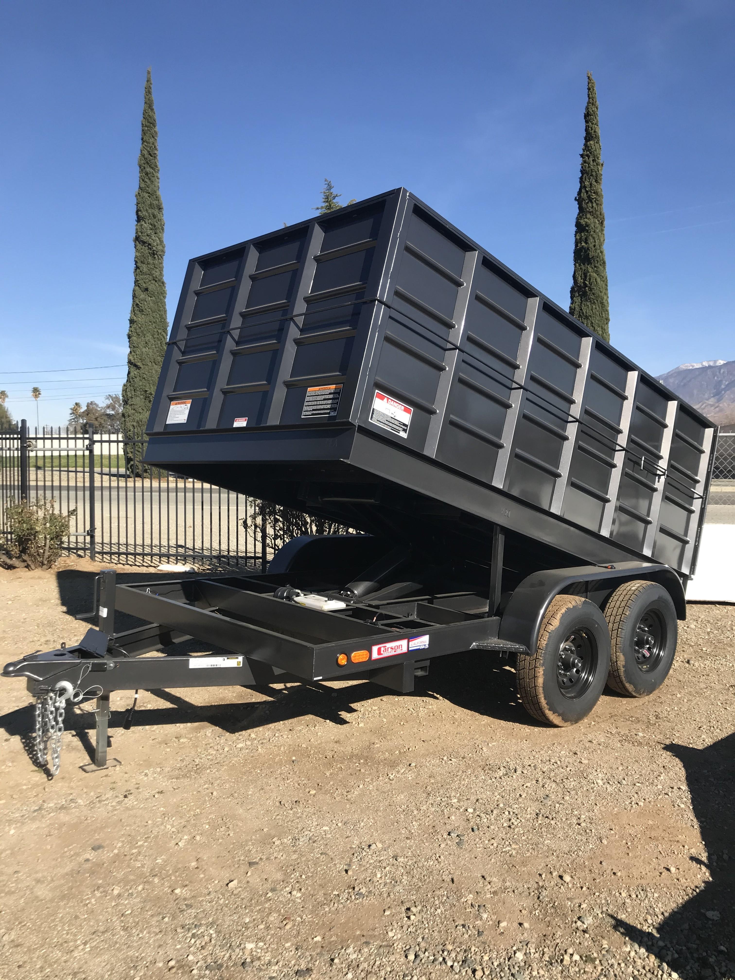 New, 2021, Carson Trailer, 12' Heavy Duty Dump Trailer in Beaumont, CA, Dump Trailers