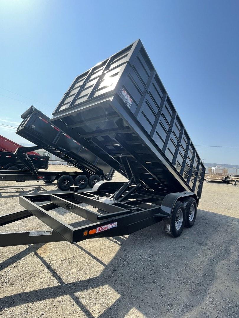 New, 2021, Carson Trailer, 7x16' Heavy Duty Dump Trailer in Beaumont, CA, Dump Trailers