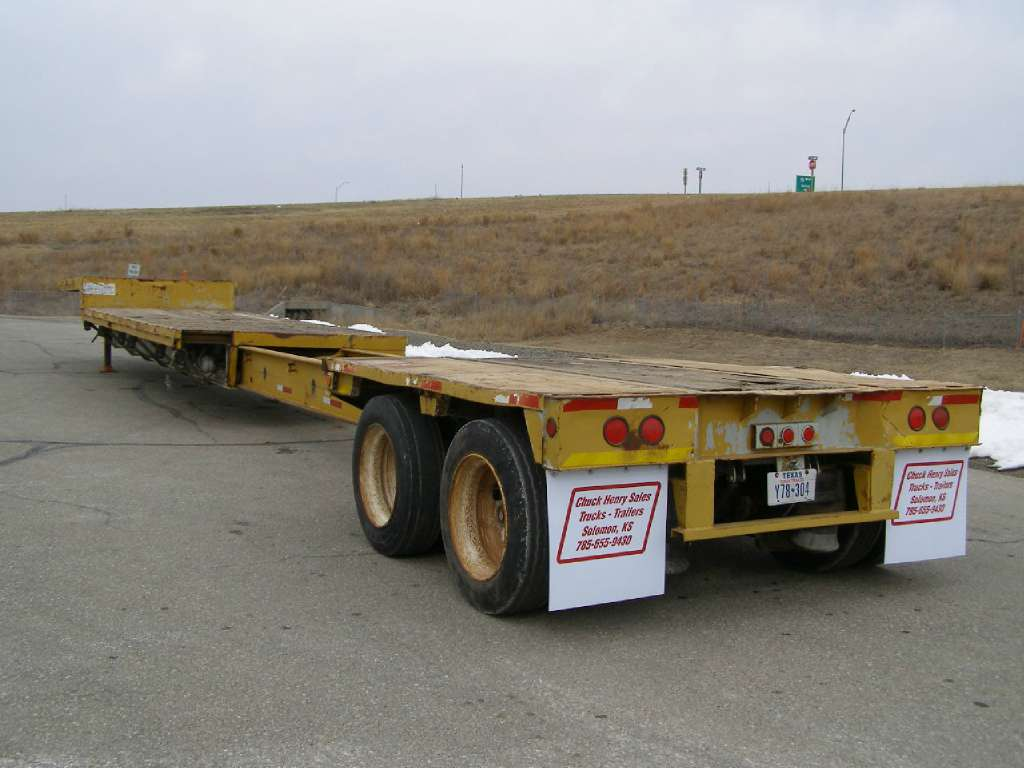Used, 1984, Aztec, 45' Drop Deck Extendable, Equipment Trailers