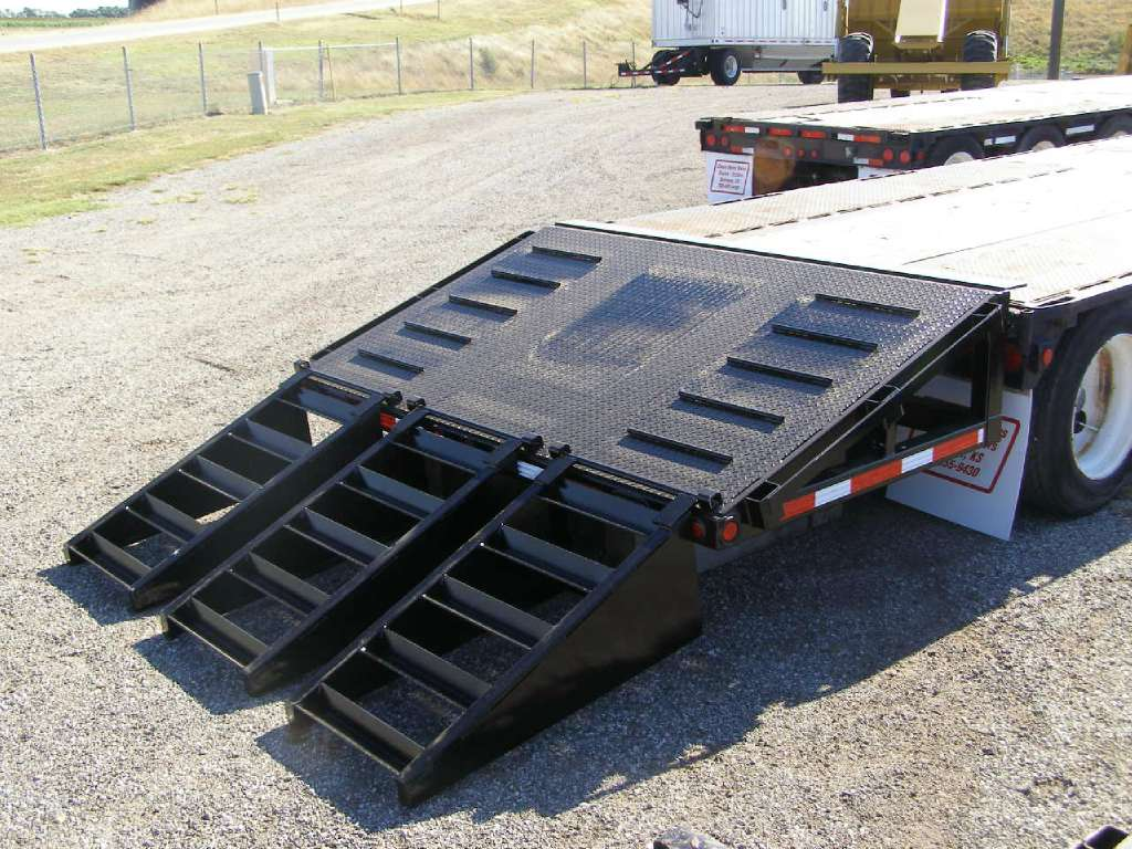 New, Neville Built, NBAOBT 5' Add On Beaver Tail 3 Ramps, Equipment Trailers