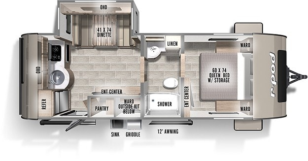 New, 2022, Forest River, R-Pod 202, Travel Trailers