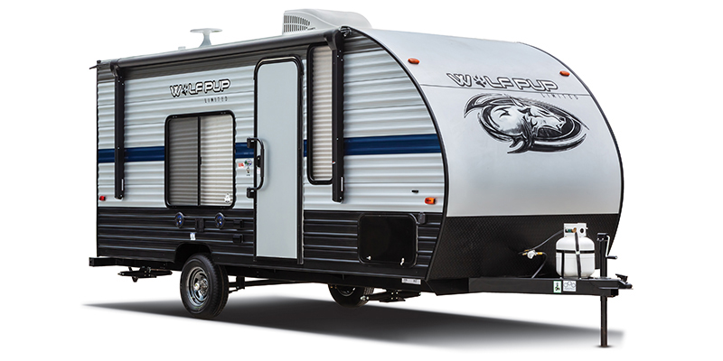 New, 2021, Forest River, Cherokee Wolf Pup 16FQ, Travel Trailers