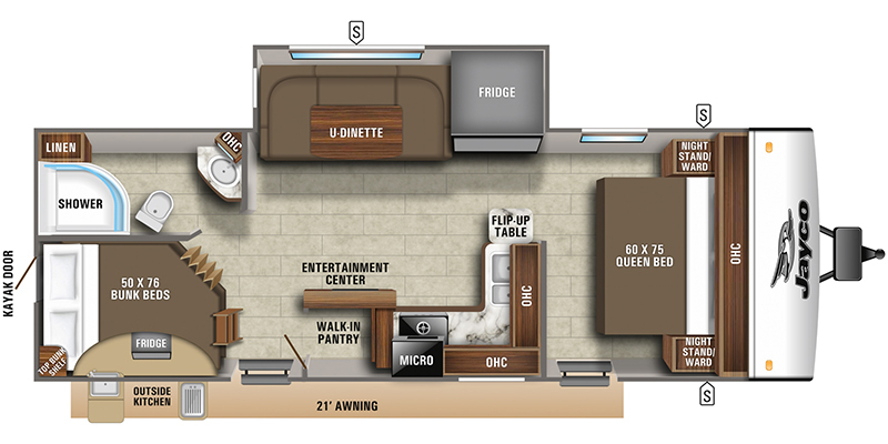 New, 2021, Jayco, Jay Feather 24BH, Travel Trailers