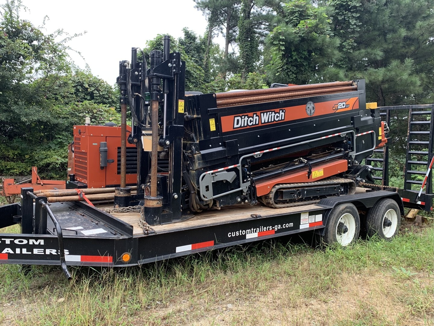 Used, 2018, Ditch Witch, JT20XP with 400' DW Pipe, Housing, Bit, XP44 Power Pack, 500 Gallon Tank, Custom CT12 24,000 GVW Drill Trailer, Boring / Drilling Machines
