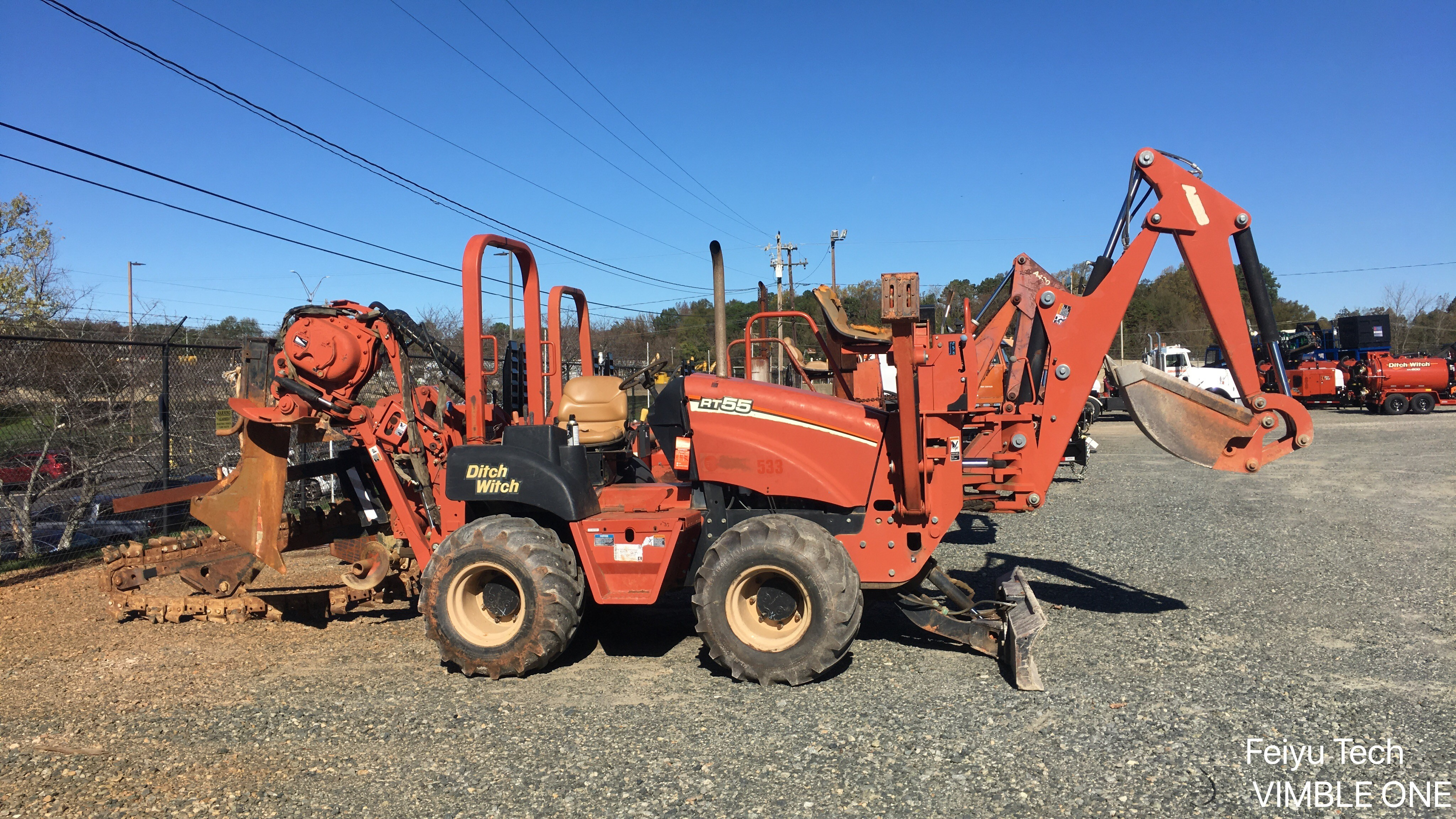 Used, 2007, Ditch Witch, Used RT55 Trencher/Plow Combo with Backhoe Attachment, Trenchers