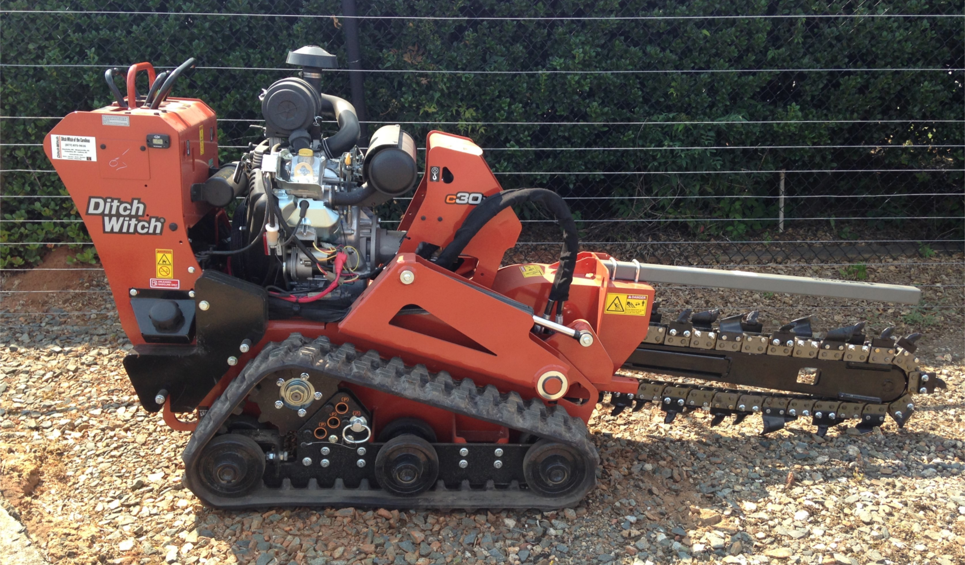 New, Ditch Witch, C30X Walk-Behind Trencher, Trenchers, North Carolina, South Carolina, Equipment