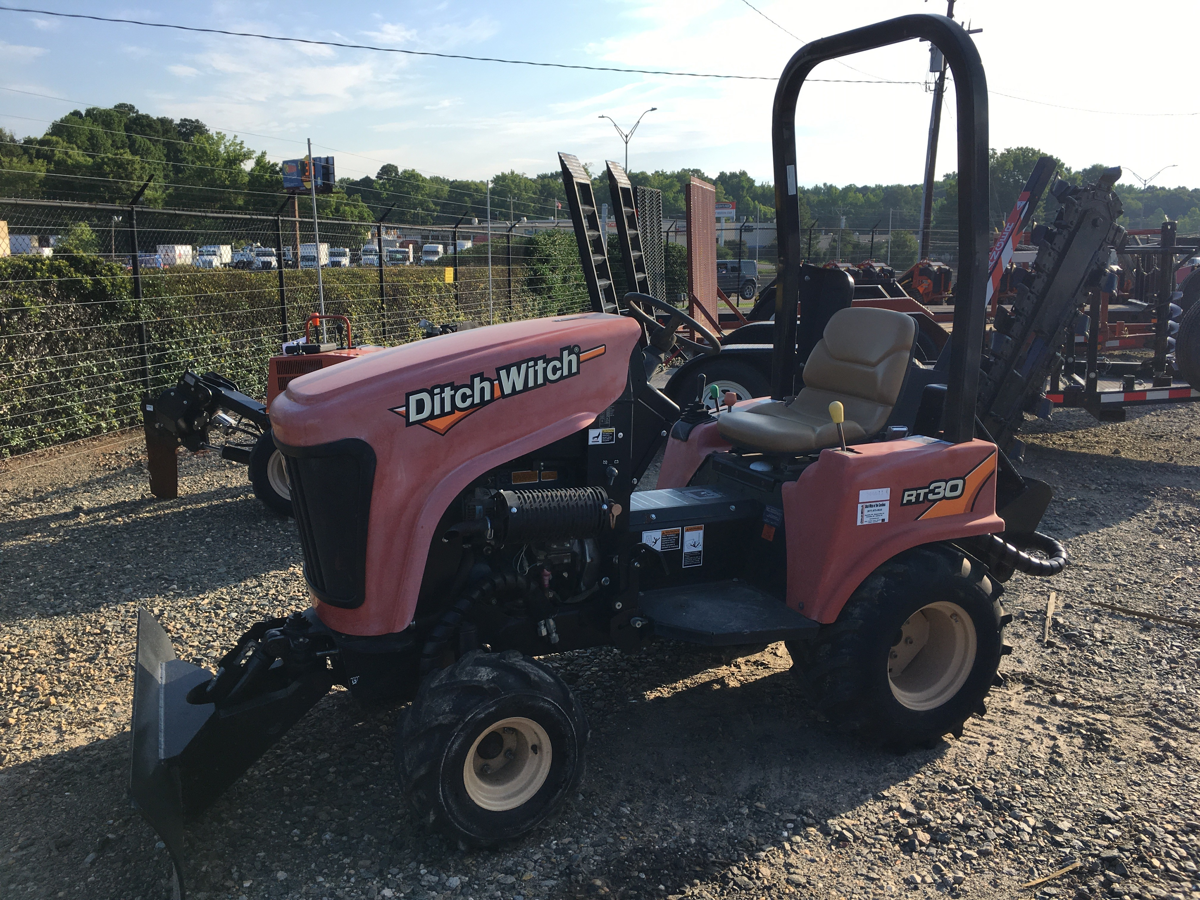 used, ditch witch, dwotc, trencher, backfill blade, kubota, diesel, sc, NC, ride-on, ride on