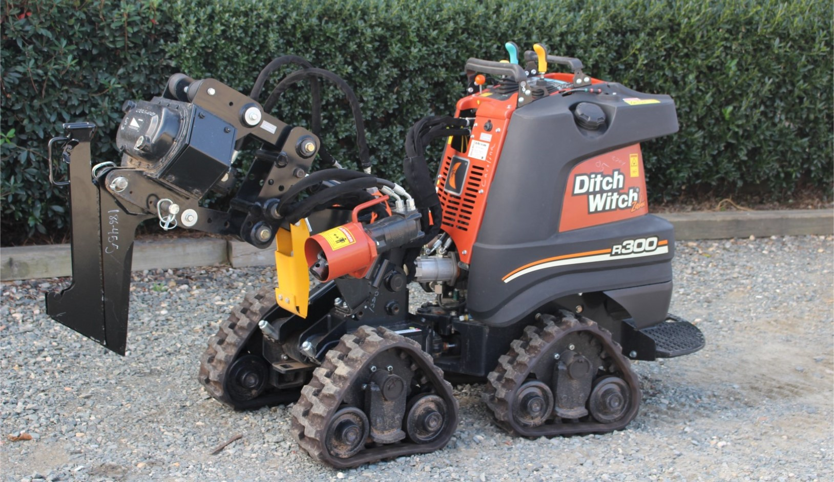 New, Ditch Witch, Zahn R300 Track Plow, Skid Steers