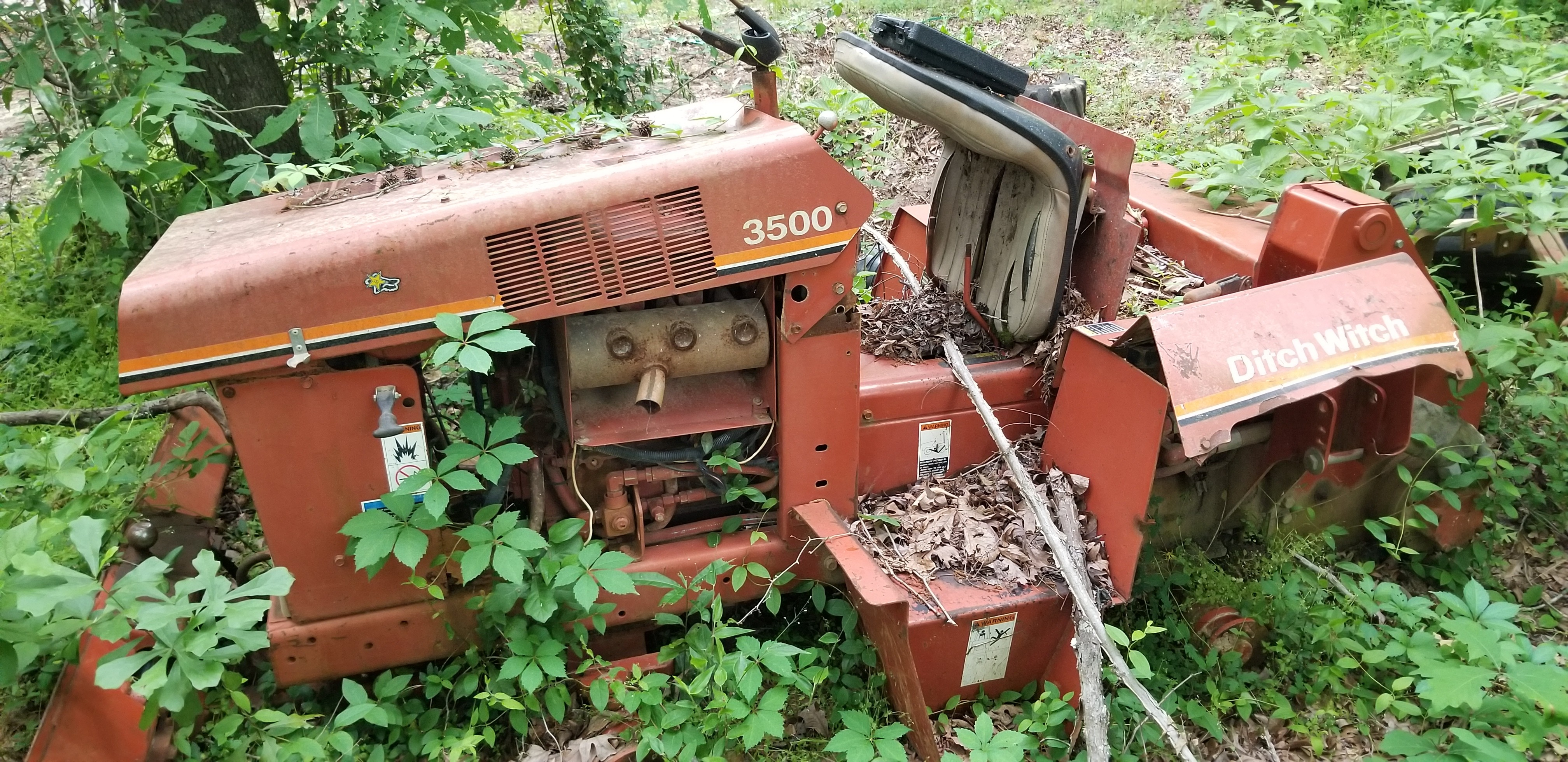 Ditch Witch, parts, salvage, junk, trencher, used, 3500