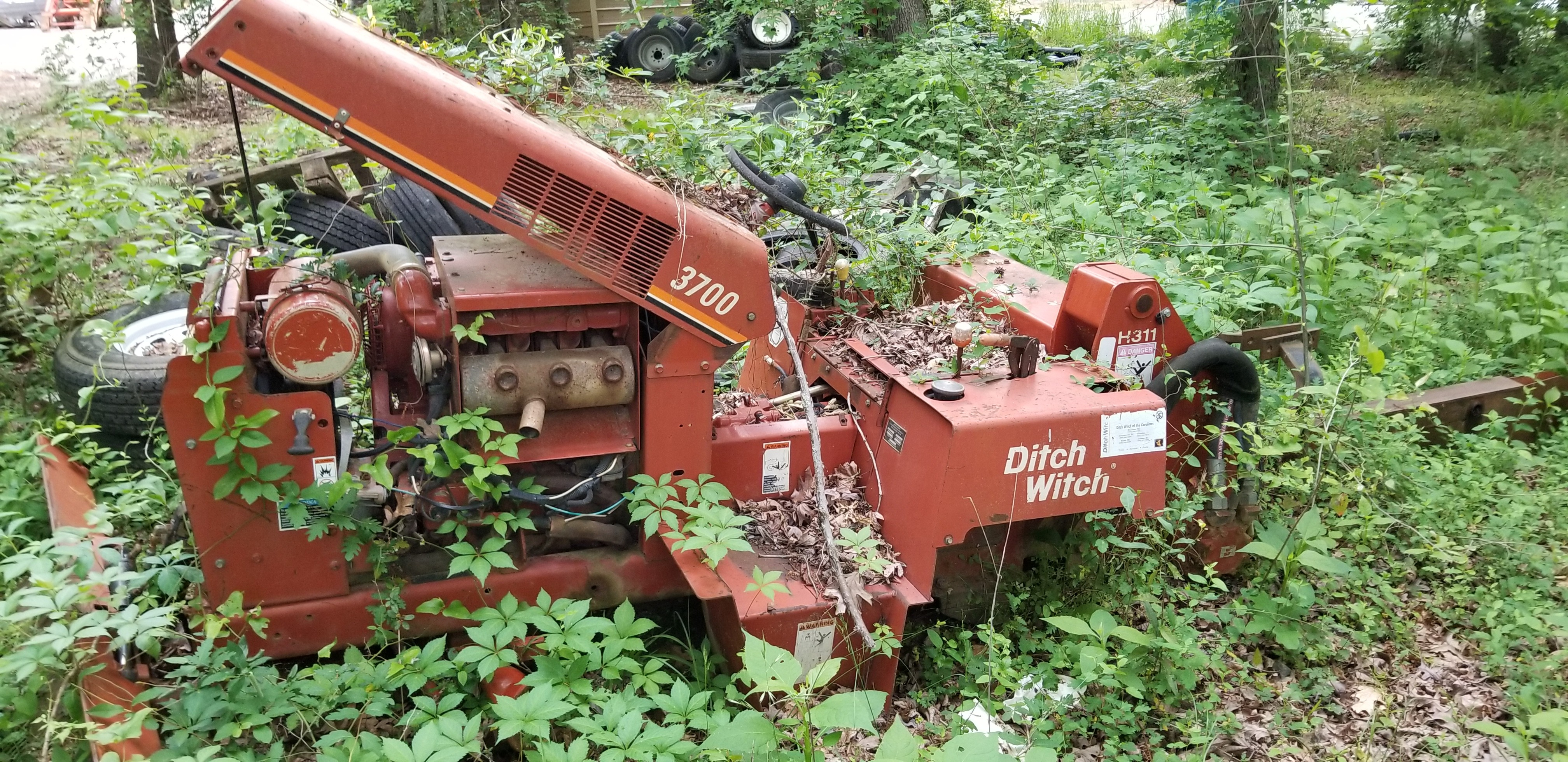 Ditch Witch, parts, salvage, junk, trencher, used, 3700