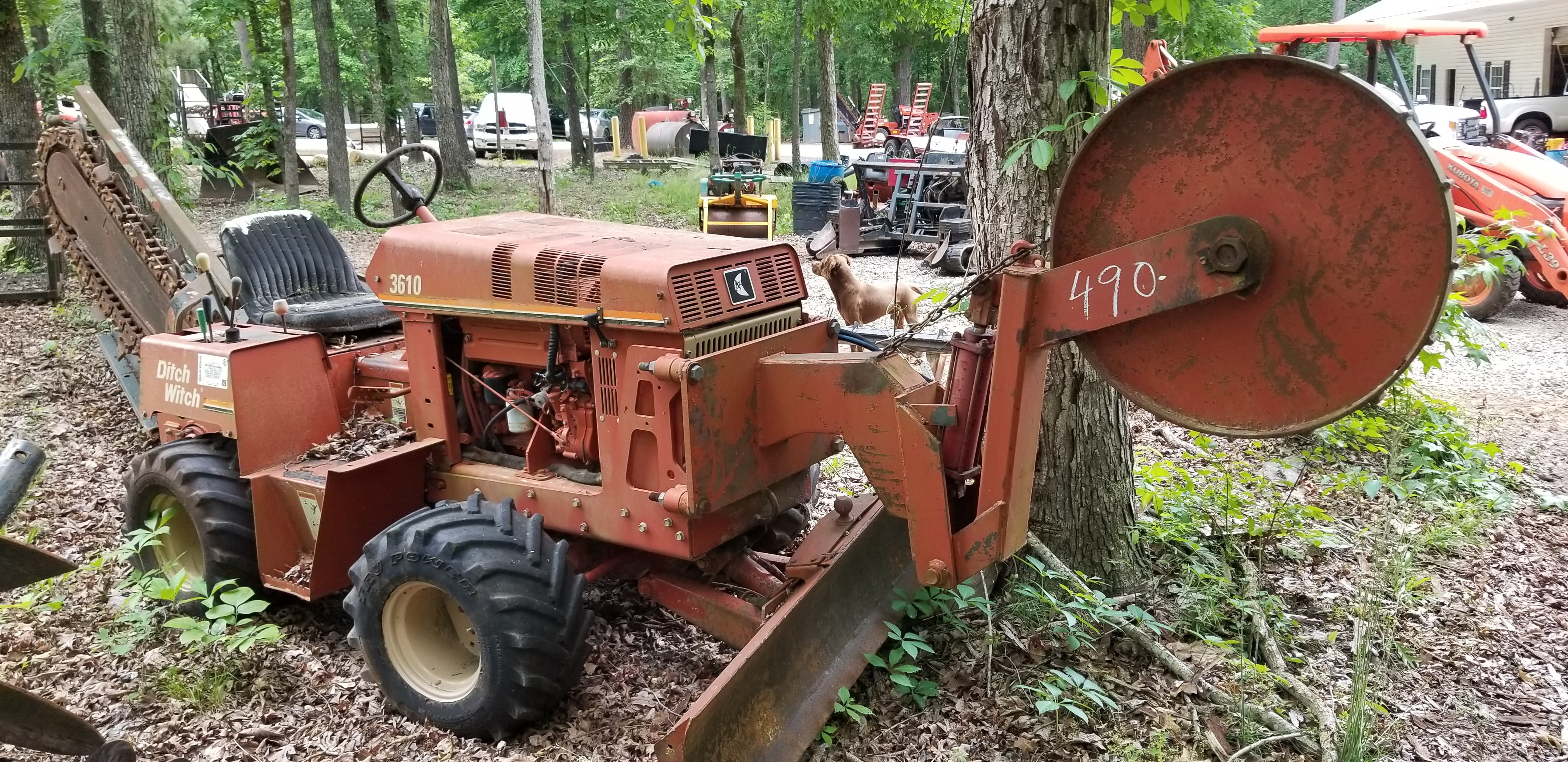 Used, Ditch Witch, Trencher, ride-on, tires, 3610, consignment, deal, working