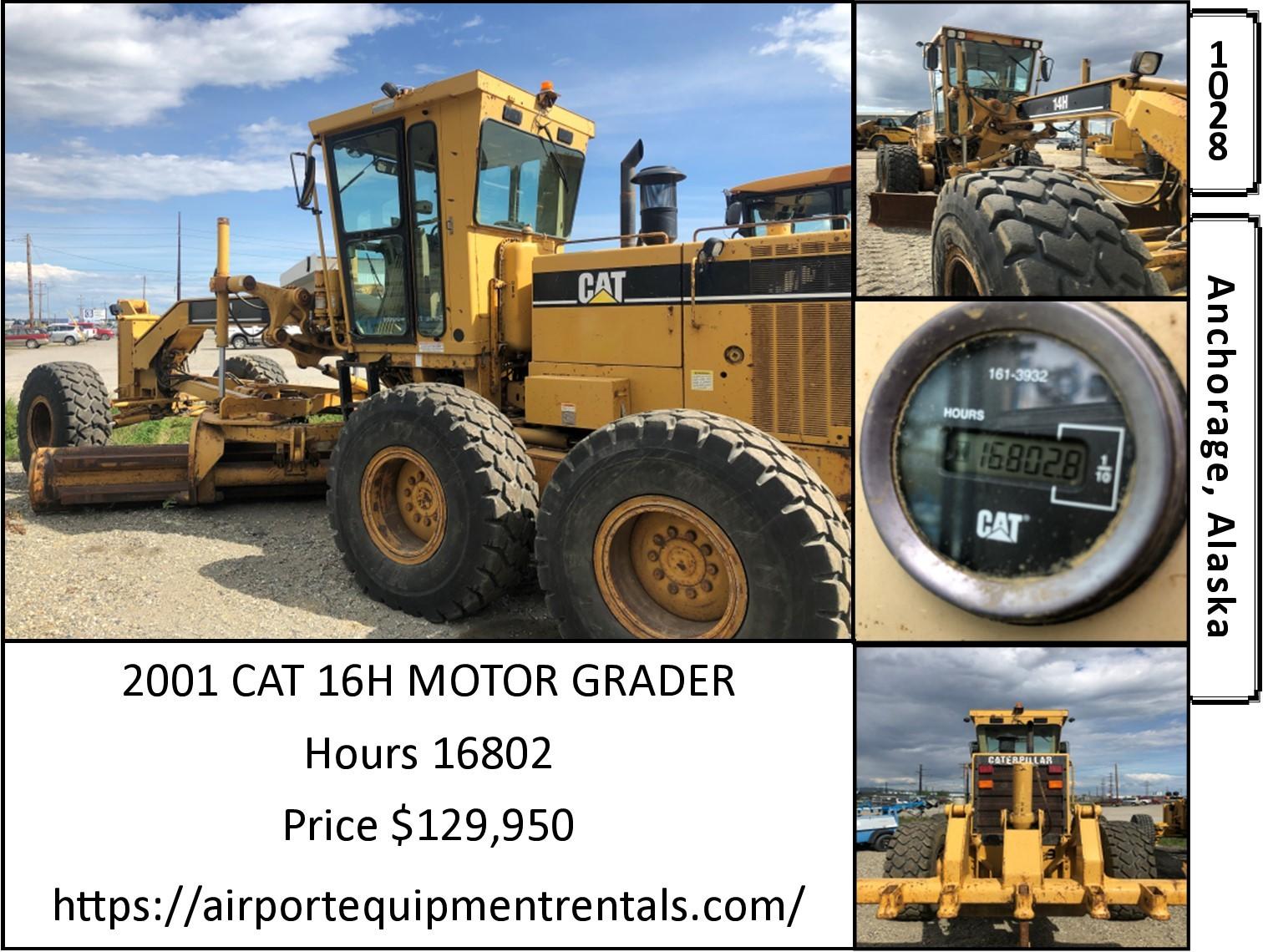 Used, 2001, CAT, 16H, Motor Graders / Scrapers
