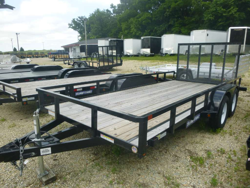 New, 2019, Sure-Trac, 7x16 Tube, Trailers