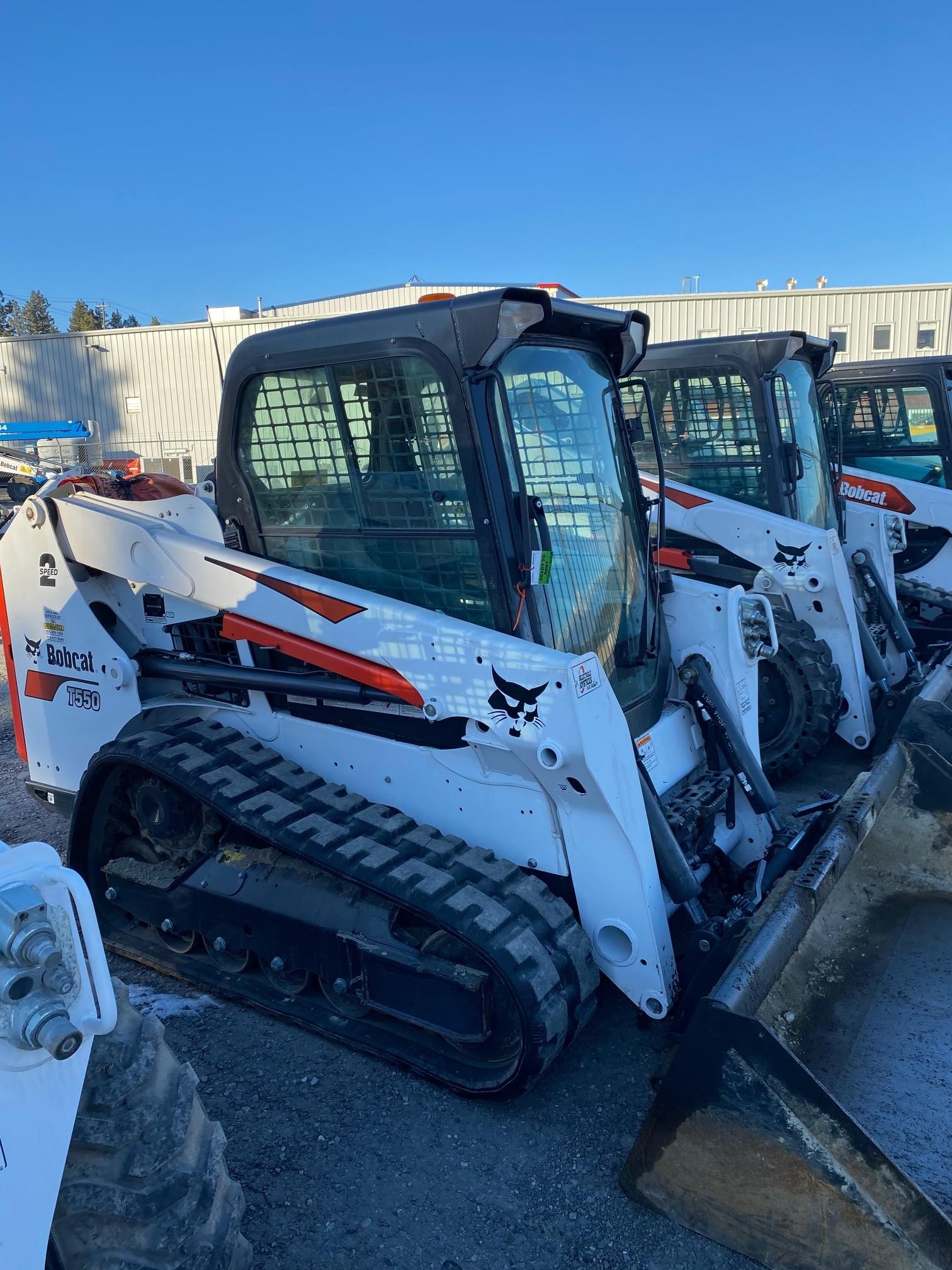 Used, 2019, Bobcat, T550, Skid Steers