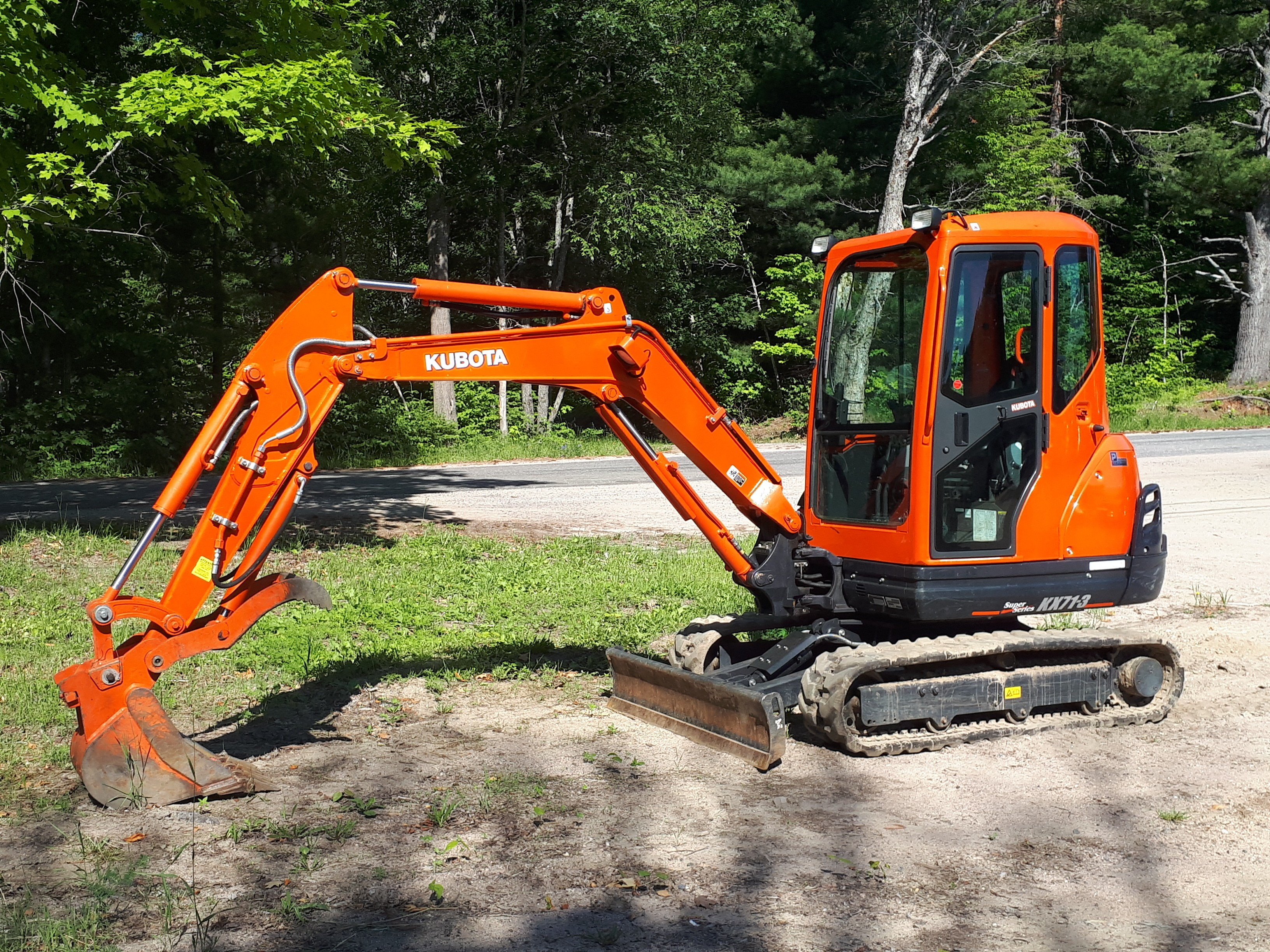 Used, 2018, Kubota, KX71-3, Excavators
