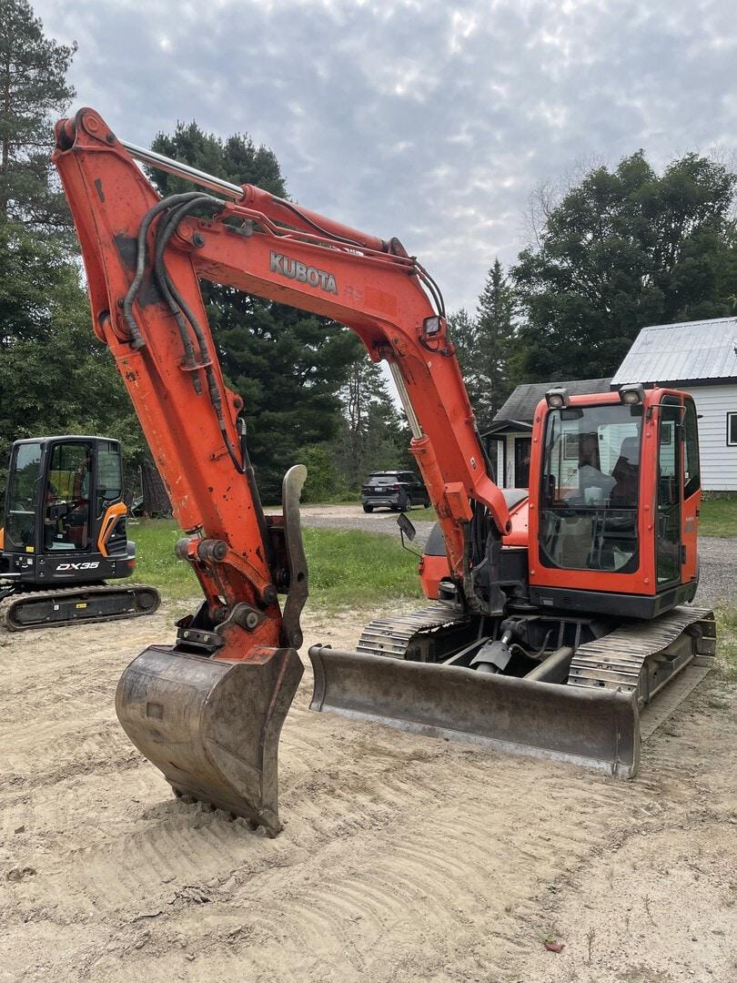 Used, 2008, Kubota, KX080-3, Excavators