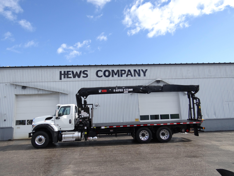 New, 2019, Other, Hews Taskmaster Building Supply Platform with Hiab 425k Wallboard Crane, Truck Bodies