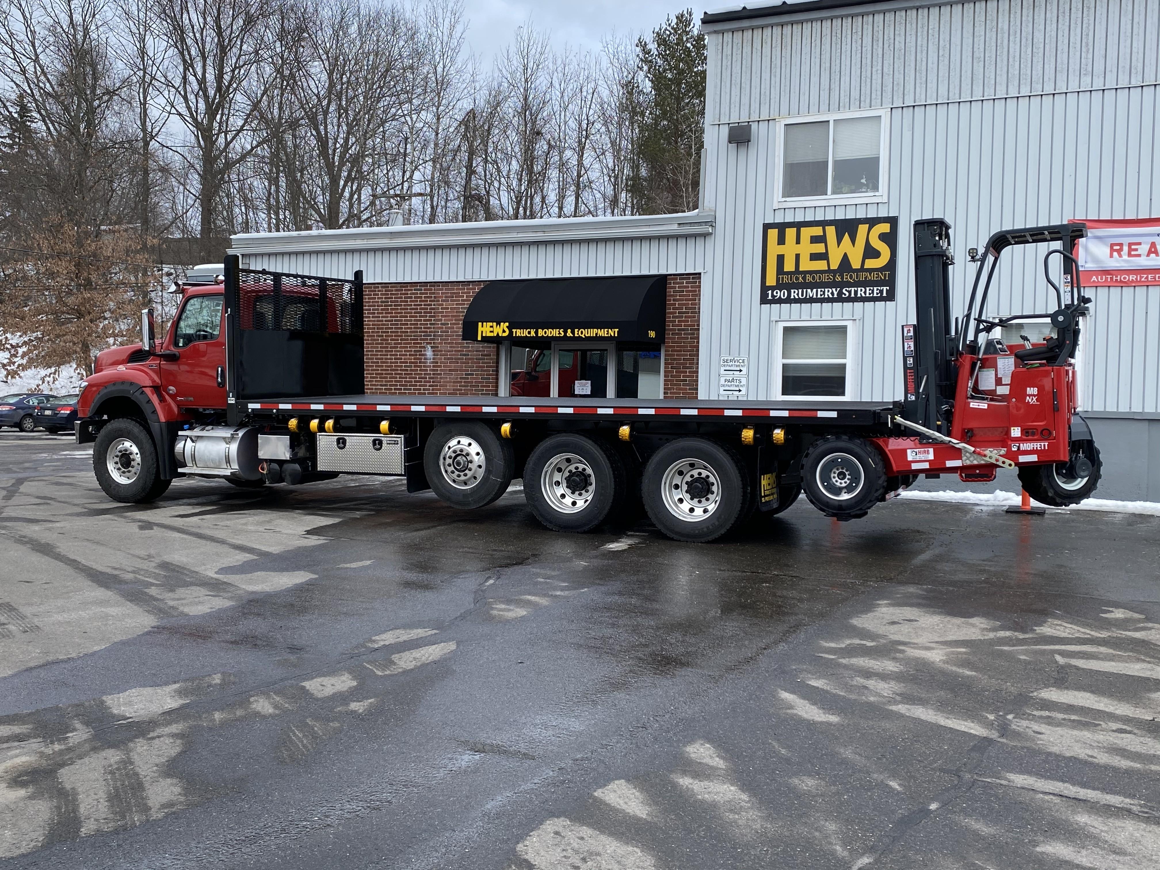 New, 0, Other, Hews Taskmaster Building Supply Platform with Moffett M8 55.4, Truck Bodies